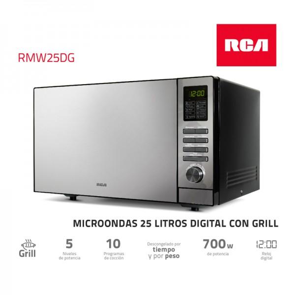 Microondas Rca Grill Digital 25 Lt Rmw25