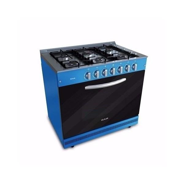 Cocina Semi Industrial Usman 6 hornallas Azul