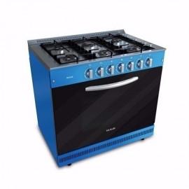 Cocina Semi Industrial a Gas Usman 6 hornallas Azul