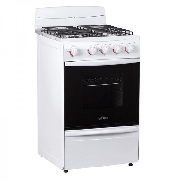 Cocina patrick cpf2151bvs 4 hornallas horno y parrilla for Hornos de cocina