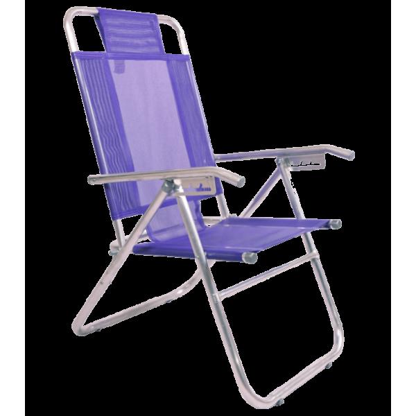 Reposera Descansar Aluminio 5 posiciones